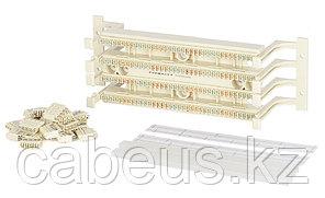 Кросс-панель Panduit GP6, 19, 2HU, 36x110, кат. 6, универсальная, цвет: белый, в комплекте 4-парные блоки,