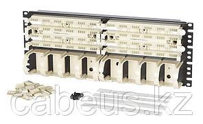 Кросс-панель Panduit GP6, 19, 4HU, 24x110, кат. 6, универсальная, цвет: белый, в комплекте 4-парные блоки,