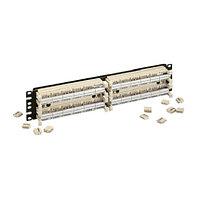 Кросс-панель Panduit GP6, 19, 2HU, 24x110, кат. 6, универсальная, цвет: белый, в комплекте 4-парные блоки,