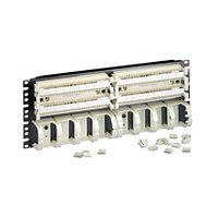 Кросс-панель Panduit GP6, 19, 4HU, 36x110, кат. 6, универсальная, цвет: белый, в комплекте 4-парные блоки,