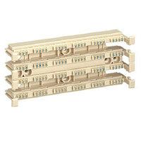 Кросс-панель Panduit GP6, 19, 2HU, 24x110, кат. 6, универсальная, цвет: белый, GPB24-X