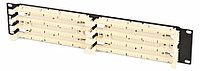Коммутационная патч-панель Hyperline, 19, 2HU, 200x110, универсальная, цвет: белый, 110C-19-200P-2U