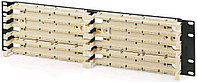 Коммутационная патч-панель Hyperline, 19, 3HU, 300x110, универсальная, цвет: белый, 110C-19-300P-3U