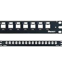 Коммутационная патч-панель телефонная Panduit Mini-Com, 19, 1HU, 16хMini-Com, цвет: чёрный