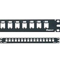 Коммутационная патч-панель телефонная Panduit Mini-Com, , 1HU, 16хMini-Com, цвет: чёрный