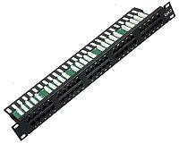 Коммутационная патч-панель телефонная AMP, 19, 1HU, 50х RJ45, цвет: чёрный