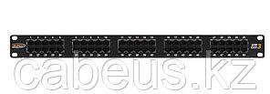 Коммутационная патч-панель телефонная Nikomax, 19, 1HU, 50хRJ45/8P8C, цвет: чёрный
