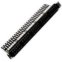 Коммутационная патч-панель телефонная Nexans, 19, 1HU, 50х RJ45, цвет: чёрный