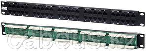 Коммутационная патч-панель телефонная Hyperline, 19, 1HU, 50хRJ45, цвет: чёрный