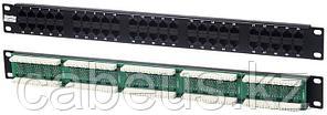 Коммутационная патч-панель телефонная Hyperline, 19, 1HU, 50х RJ45, цвет: чёрный