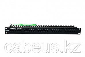 Коммутационная патч-панель телефонная Eurolan, 19, 1HU, 25х RJ45, цвет: чёрный