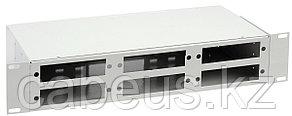 Кросс-панель ITK, 2 HU портов: 48 , невыдвижная, прямая, 19, цвет: серый, без планок