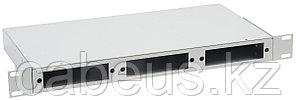 Кросс-панель ITK, 1 HU портов: 24 , невыдвижная, прямая, 19, цвет: серый, пустая, без планок, под 8 портов -