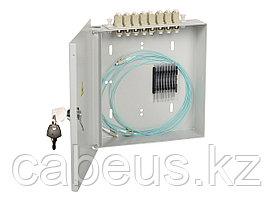 Кросс-панель ITK портов: 8 SC/UPC Simplex OS2, установлено адаптеров: 8, невыдвижная, настенная, для кабеля,