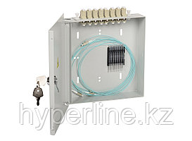 Кросс-панель ITK портов: 8 SC/UPC Simplex OM2, установлено адаптеров: 8, невыдвижная, настенная, для кабеля,