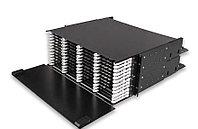 Коммутационная патч-панель Nexans LANmark-OF Enspace, 4 HU портов: 576 LC , выдвижная, прямая, цвет: чёрный, 177 х 526 мм В х Г