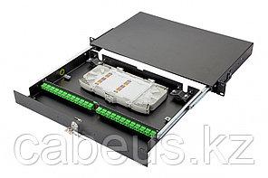 Коммутационная панель оптическая Eurolan 47D-24, 1 HU портов: 24 FC/APC OS2, установлено адаптеров: 16,