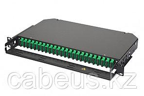 Коммутационная панель оптическая Eurolan 47C-24, 1 HU портов: 24 SC/APC Duplex OS2, установлено адаптеров: 4,