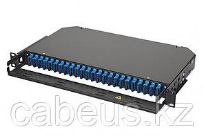 Коммутационная панель оптическая Eurolan 47C-24, 1 HU портов: 24 SC/UPC Duplex OS2, установлено адаптеров: 4,