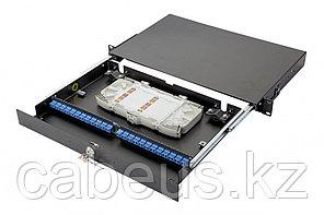 Коммутационная панель оптическая Eurolan 47D-24, 1 HU портов: 24 FC/UPC OM4, установлено адаптеров: 16,