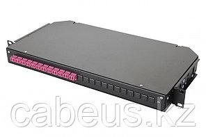 Коммутационная панель оптическая Eurolan 47C-24, 1 HU портов: 24 LC/UPC Duplex OM4, установлено адаптеров: 12,
