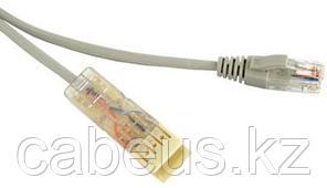 Шнур коммутационный телефонный Hyperline, RJ45/110, пар: 2, LSZH, 2м, ethernet, серый