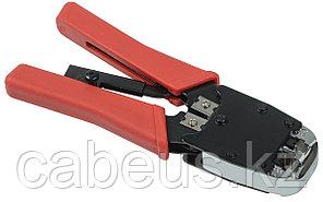 Инструмент для обжима проводников ITK, RJ-45 8P8С, RJ-12 6P6С, с храп.механизмом, вертикальное расположение,
