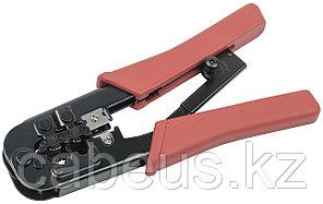 Инструмент для обжима проводников ITK, RJ-45 8P8С, RJ-12 6P6С, с храп.механизмом, красный, TM1-B11H