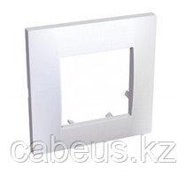 Рамка Schneider Electric, 1 пост, 45х45 мм ВхШ, плоская, цвет: белый ALB45650