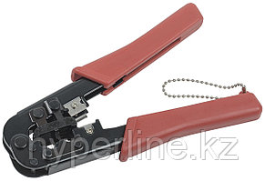 Инструмент для обжима проводников ITK, RJ-45 8P8С, RJ-12 6P6С, без храп.механизма, красный, TM1-B10H