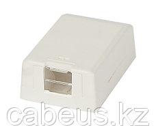 Коробка для настенного монтажа Panduit Mini-Com, внешняя, 16х41,5х63 мм ВхШхГ, со шторкой, 1 модуль, цвет: белый