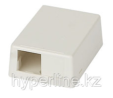 Коробка для настенного монтажа Panduit Mini-Com, внешняя, 23х45х62 мм ВхШхГ, с заглушкой для 2-ого модуля,