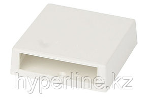 Коробка для настенного монтажа Panduit Mini-Com, внешняя, 80х80х23 мм ВхШхГ, 4 модуля, цвет: белый