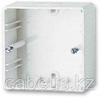 Коробка открытого монтажа AMP, внешняя, 86х86х45 мм ВхШхГ, цвет: белый