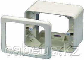 Коробка открытого монтажа AMP, внешняя, 80х80 мм ВхШ, цвет: белый