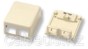 Коробка для настенного монтажа AMP, внешняя, 32х56х65 мм ВхШхГ, 2 модуля, цвет: белый