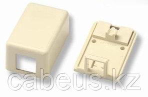 Коробка для настенного монтажа AMP, внешняя, 32х43х65 мм ВхШхГ, 1 модуль, цвет: белый