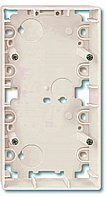 Коробка открытого монтажа Merten ARTEC, 2 модуля, С открываемыми вводами, цвет: бежевый
