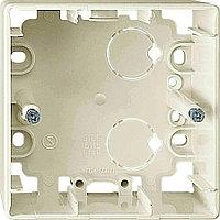 Коробка открытого монтажа Merten ARTEC, 1 модуль, С открываемыми вводами, цвет: бежевый