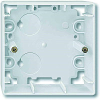Коробка открытого монтажа Merten ARTEC, 1 модуль, С открываемыми вводами, цвет: полярно-белый