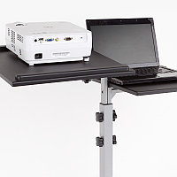 Проекционный столик DUO серебристо-черный