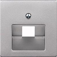 Лицевая панель розеточная Legrand Valena, 1х RJ45, 30х30 мм ВхШ, плоская, цвет: алюминий, для розетки RJ45 с винтом. В упаковке 5 шт. LEG.770255