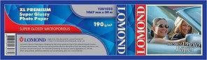 Фотобумага Lomond Super Glossy Resin Coated, 1067 х 50,8 мм, 190 г/м2, 30 метров (арт. 1201033)