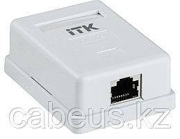 Розетка в сборе ITK, 1x RJ458P8C, кат. 5е, экр., для настенного монтажа, упаковка: 1 шт, цвет: белый, CS2-1C5EF-12