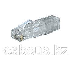 Коннектор Panduit TX6™ PLUS, RJ458p8c, кат. 6, неэкр., для многожильного кабеля, 100 шт, цвет: прозрачный