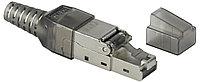 Разъём ITK, RJ458p8c, кат. 6A, экр., со вставкой, для многожильного кабеля, 20 шт, цвет: прозрачный, полевая заделка