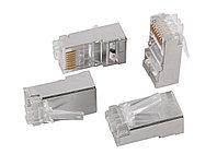 Разъём ITK, RJ458p8c, кат. 6, экр., со вставкой, для одножильного кабеля, 20 шт, цвет: прозрачный