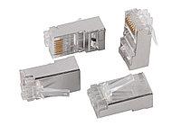 Разъём ITK, RJ458p8c, кат. 6, экр., со вставкой, для многожильного кабеля, 20 шт, цвет: прозрачный