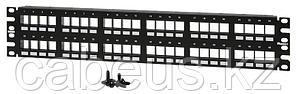 Коммутационная патч-панель Panduit Netkey, 19, 2HU, портов: 48 х keystone, порты в 2 ряда, цвет: чёрный, без