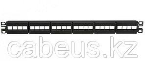 Коммутационная патч-панель Panduit Netkey, 19, 1HU, портов: 24 х keystone, порты в 1 ряд, цвет: чёрный, без